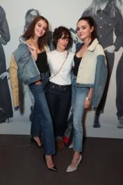 Kaia Gerber, Karla Welch e Charlotte Lawrence (Levi's/Divulgação)