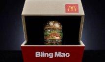 """O divertido anel """"Bling Mac"""" feito para concurso da rede de fast-foodFoto: Divulgação"""