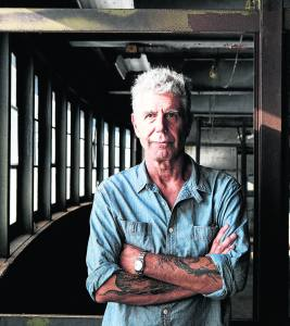 Anthony Bourdain on Pier 57, where he was planning to open Bourdain Market, in New York.