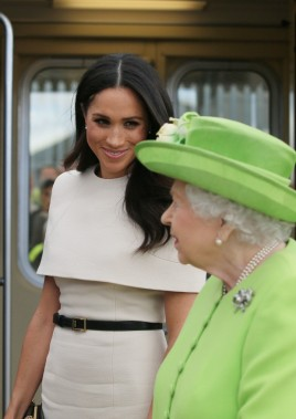 Meghan Markle e Rainha Elizabeth II (Foto: Getty Images)