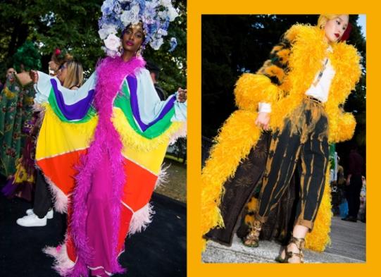 Mais plumas! Que incrível esse amarelo poderoso.