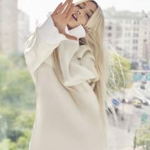 Será que ela estava cantando? Vestido Louis Vuitton