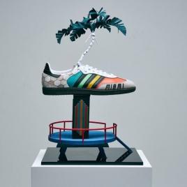 83ed38a3e88 O futebol apareceu na versão do jogador David Beckham Foto   Divulgação Adidas