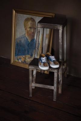 O famoso auto-retrato de Van Gogh é uma das peças que faz parte da coleção Foto: Divulgação/Vans