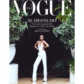 """Essa é uma das capas da """"Vogue"""" México com Bella"""