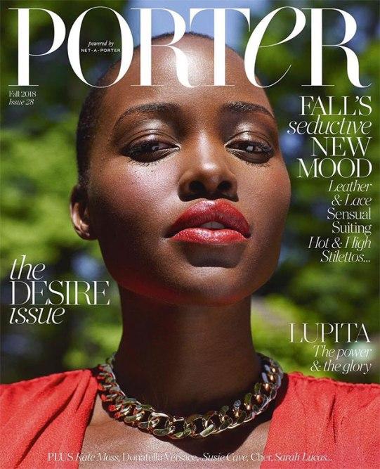 "Na ""Porter"", Lupita Nyong'o maravilhosa"