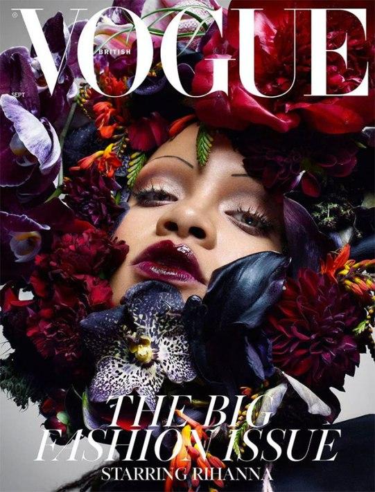 """Uma das capas da Rihanna na """"Vogue"""" UK"""