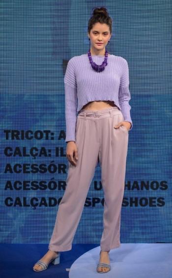 A cor lavanda é uma das principais tendências de verão das lojas do Mega Polo Moda Foto: Rene Martins/Divulgação