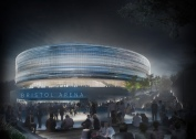 Bristol Arena by night (Populous Arena team)