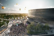Visualisation of the Bristol Arena hosting temporary events
