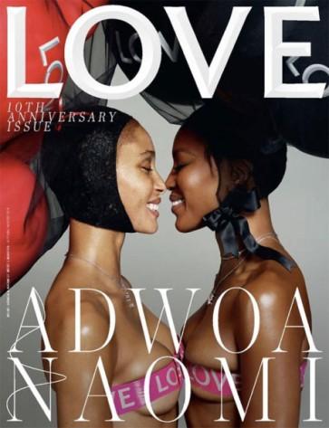 Duplinha que a gente adora: Adwoa Aboah e Naomi Campbell! Clique de Mert Alas e Marcus Piggott