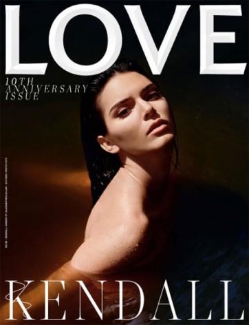 Luz e sombra em Kendall Jenner no clique de Alasdair McLellan