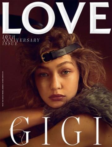 E a Gigi Hadid, hein? Ela é a única que está em duas capas nessa edição: essa e...
