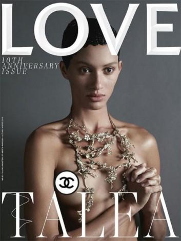 Talea Lischetzki faz um topless discreto com a ajuda de Chanel - o clique é de Mert Alas e Marcus Piggott