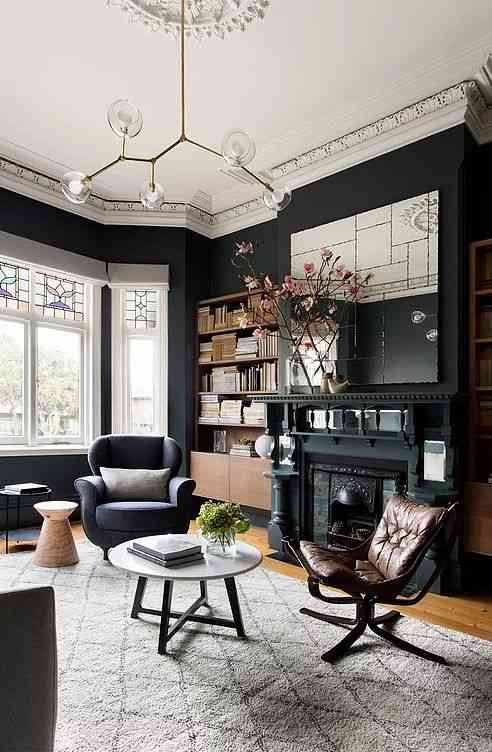 House Living Room Ideas Luxury 338 best aphrochic color crush black images on pinterest living