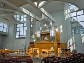 Capela da Episcopal Academy, na cidade de Newtown Square, Pensilvânia, EUA