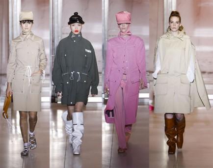 A coleção é de primavera-verão 2019 - mas a quantidade de casacos mostra que o aquecimento global se reflete nas coleções de moda - fim das estações bem marcadas!