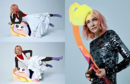 A artista holandesa Viviane Sassen fez interferências com tinta nas fotos