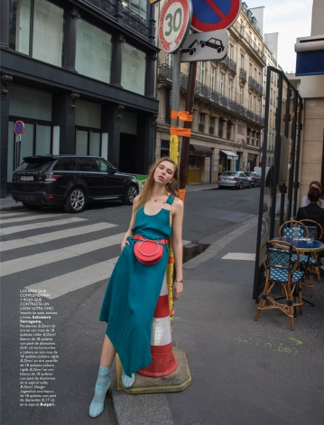 Alexis Kapaun in PARIS TRES CHIC photographed by Benjamin Kanarek