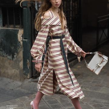 Alexis Kapaun in PARIS TRES CHIC photographed by Benjamin Kanarek