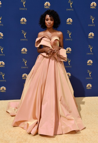 LOS ANGELES, CA - SEPTEMBER 17: Zuri Hall attends the 70th Emmy Awards at Microsoft Theater on September 17, 2018 in Los Angeles, California. (Photo by Frazer Harrison/Getty Images)
