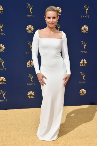 LOS ANGELES, CA - SEPTEMBER 17: Kristen Bell attends the 70th Emmy Awards at Microsoft Theater on September 17, 2018 in Los Angeles, California. (Photo by Frazer Harrison/Getty Images)