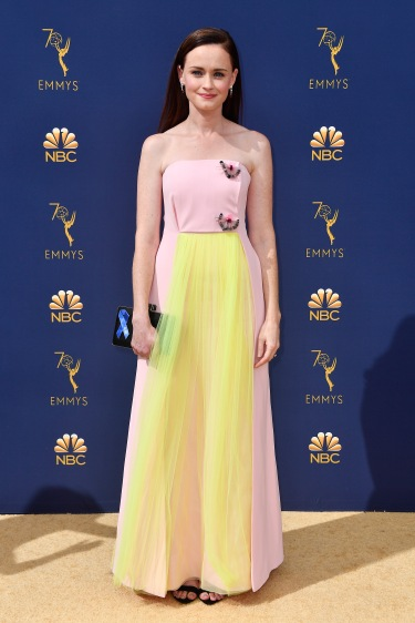 LOS ANGELES, CA - SEPTEMBER 17: Alexis Bledel attends the 70th Emmy Awards at Microsoft Theater on September 17, 2018 in Los Angeles, California. (Photo by Frazer Harrison/Getty Images)