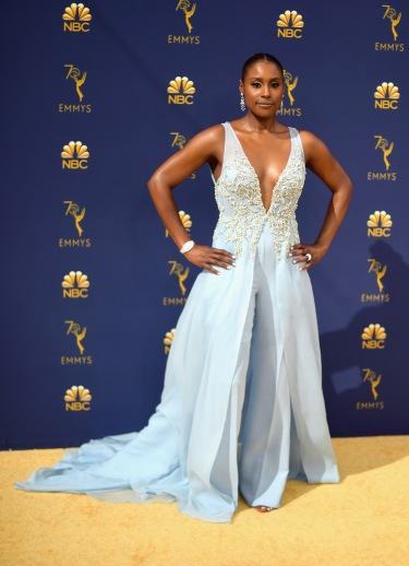 LOS ANGELES, CA - SEPTEMBER 17: Issa Rae attends the 70th Emmy Awards at Microsoft Theater on September 17, 2018 in Los Angeles, California. (Photo by Matt Winkelmeyer/Getty Images)
