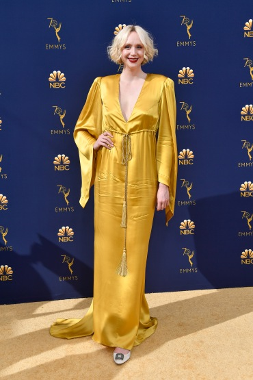 LOS ANGELES, CA - SEPTEMBER 17: Gwendoline Christie attends the 70th Emmy Awards at Microsoft Theater on September 17, 2018 in Los Angeles, California. (Photo by Frazer Harrison/Getty Images)