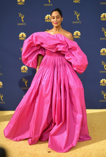 LOS ANGELES, CA - SEPTEMBER 17: Tracee Ellis attends the 70th Emmy Awards at Microsoft Theater on September 17, 2018 in Los Angeles, California. (Photo by Matt Winkelmeyer/Getty Images)