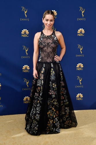 LOS ANGELES, CA - SEPTEMBER 17: Emilia Clarke attends the 70th Emmy Awards at Microsoft Theater on September 17, 2018 in Los Angeles, California. (Photo by Frazer Harrison/Getty Images)
