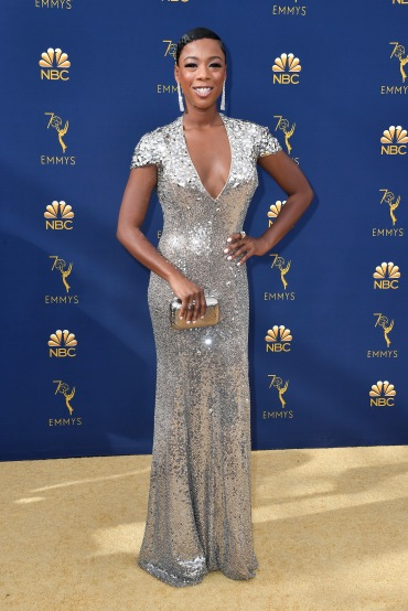LOS ANGELES, CA - SEPTEMBER 17: Samira Wiley attends the 70th Emmy Awards at Microsoft Theater on September 17, 2018 in Los Angeles, California. (Photo by Frazer Harrison/Getty Images)