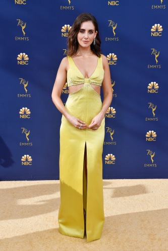 LOS ANGELES, CA - SEPTEMBER 17: Alison Brie attends the 70th Emmy Awards at Microsoft Theater on September 17, 2018 in Los Angeles, California. (Photo by Frazer Harrison/Getty Images)