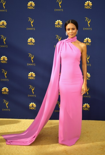 LOS ANGELES, CA - SEPTEMBER 17: Thandie Newton attends the 70th Emmy Awards at Microsoft Theater on September 17, 2018 in Los Angeles, California. (Photo by Matt Winkelmeyer/Getty Images)