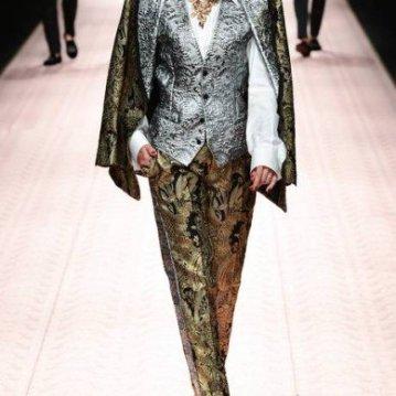Carla Bruni para a Dolce & Gabbana   MIGUEL MEDINA / AFP