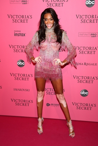 NEW YORK, NY - NOVEMBER 08: Winnie Harlow attends the 2018 Victoria's Secret Fashion Show After Party on November 8, 2018 in New York City. (Photo by Astrid Stawiarz/Getty Images for Victoria's Secret)