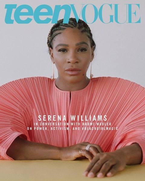 """59c6052f9 Serena Williams on the December cover of """"Teen Vogue."""" Photo: Ronan McKenzie"""